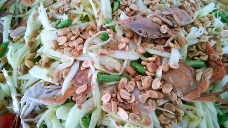 tam: Som Tam Thai - Thai Green Papaya Salad with peanuts.