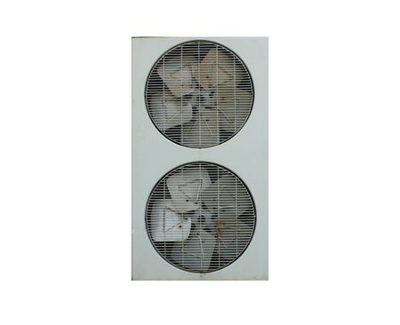 coolant temperature: air conditioner fan on white background