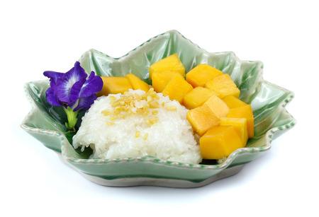 waxes: Thai dessert, Mango with sticky rice