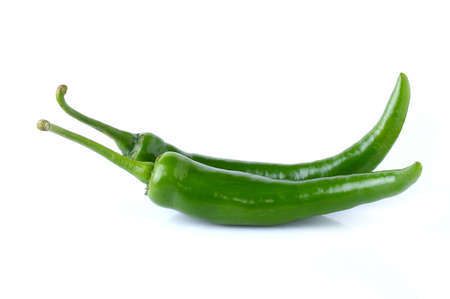 dialectic: chili peppers on white background Stock Photo