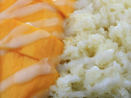 Thai dessert, Mango with sticky rice
