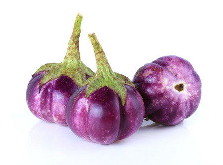 agricultural essence: eggplant on white background Stock Photo