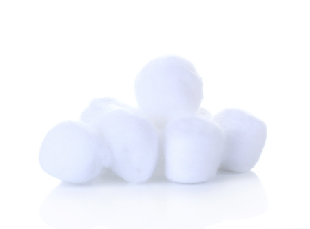 cotton wool isolate  on white background