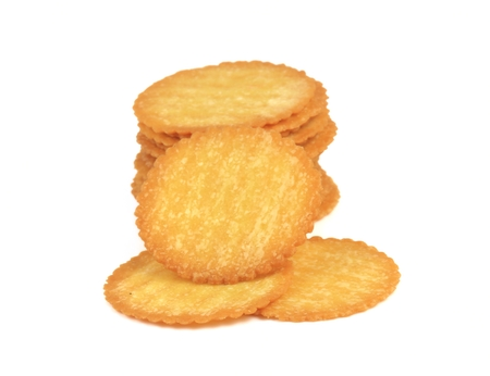 Biscuits isolate on white background Banco de Imagens