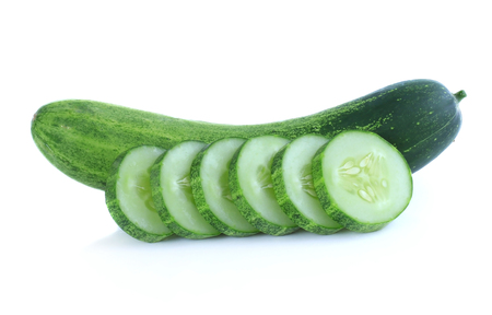 hypothesis: resh cucumbers isolated on white background