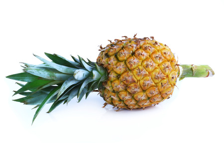 dialectic: pineapple isolated on white background