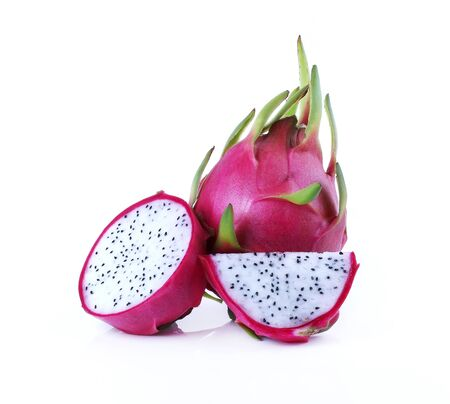 dragonfruit: White dragonfruit isolate on white background