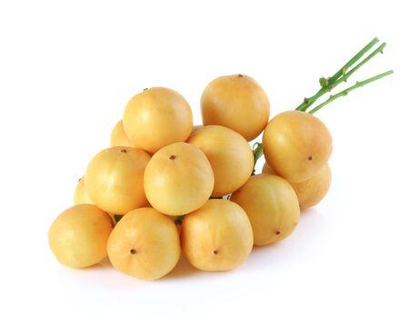 free radicals: Thai fruit (Ma Fai) isolated on white background