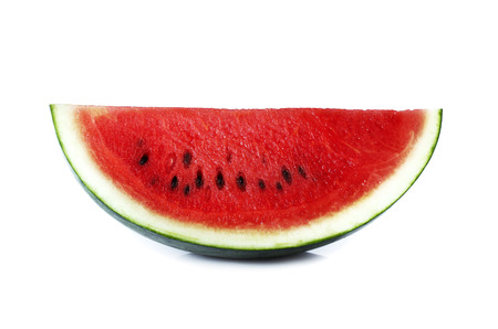 liable: Slice of watermelon isolate on white background Stock Photo