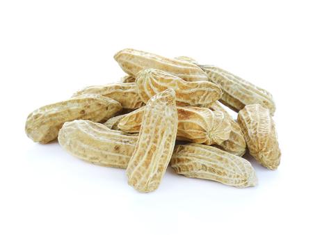 aggregates: peanut isolate on white background Stock Photo