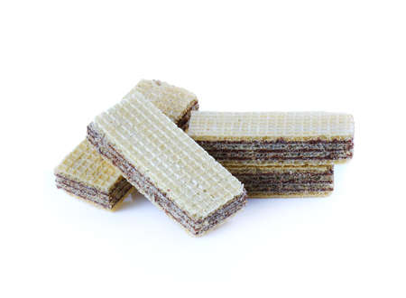 wafers: Wafers with chocolate isolated on white background