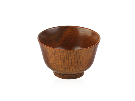 wooden cup isolate on white background. Banco de Imagens