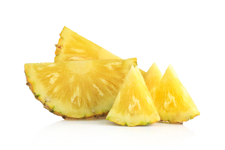 Pineapple cut isolated on white background. Banco de Imagens