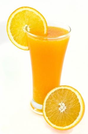 orange juice glass: very cheerful ,  Stock Photo