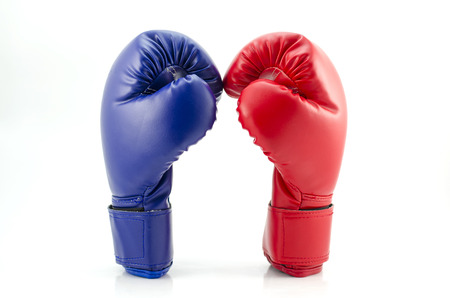 Boxing gloves close up photo