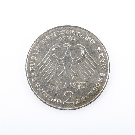 german mark: Two Deutschmark, meanwhile not valid any more