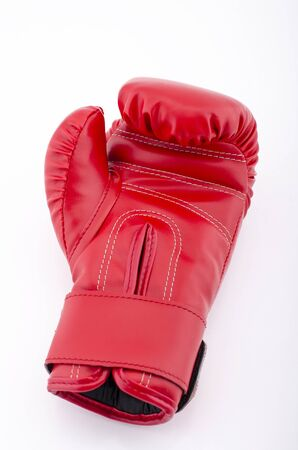red boxing-gloves on the white background