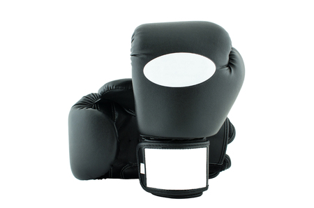 Boxing-gloves on a white background Stock Photo