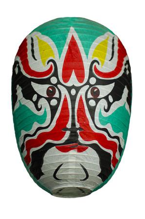 Chinese Opera Facial Mask Lantern Stock Photo