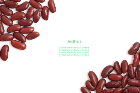 Red beans isolated on white background and space for text  photo