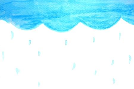sky raining by watercolour  photo