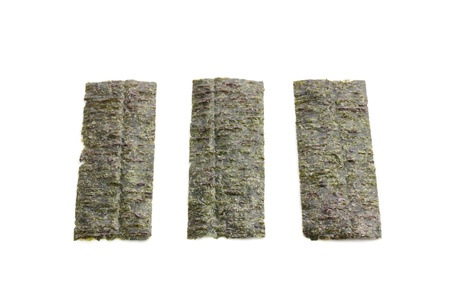 nori for rolls isolated on white background  photo