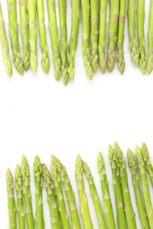 Fresh Green asparagus isolated in white background  photo