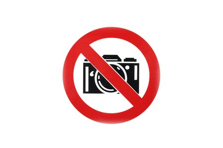 No photo camera sign in white background Stock Photo - 10084453