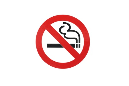 no problems: No smoke sign in white background