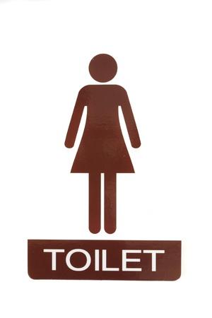 Female toilet sign Stock Photo - 10084466