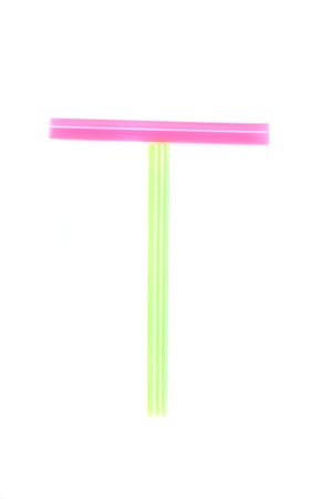 Alphabet colorful straw  photo