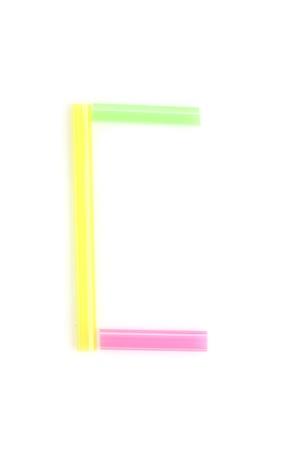 Alphabet colorful straw  photo