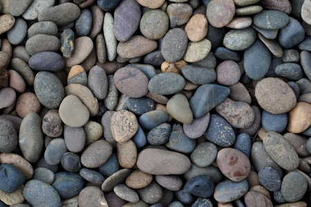 Pebble rock and stone for background texture  photo