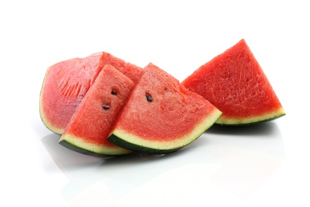 cross cut: Watermelon isolated in white background  Stock Photo