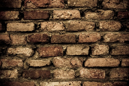 dark brown old brick pattern background texture Stock Photo - 10021998