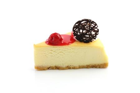 trozo de pastel: Pastel de queso Cerezo