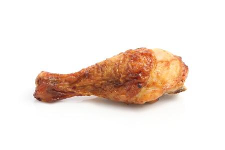 roast turkey: chicken roasted isolated in white background
