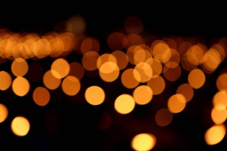 orange bokeh photo