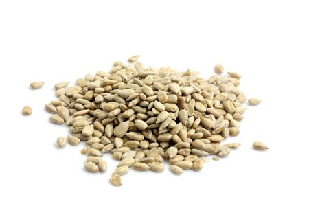 semen: Sunflower seed isolated in white background