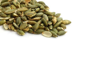 pumpkin seed isolated in white background photo