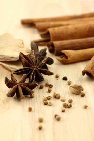 dried herb: Chinese herbal medicine Stock Photo