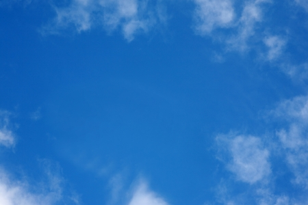 Blue sky with cloud frame
