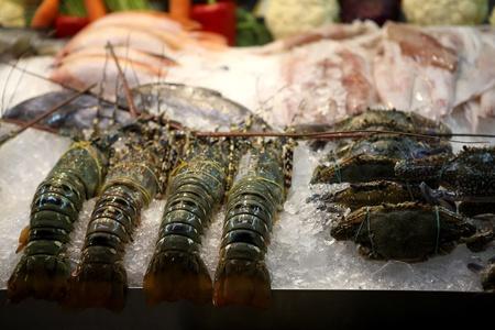 lobster in night market