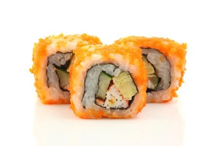 California Maki Sushi isolated in white background Stock Photo - 10401032