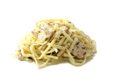 spaghetti isolated in white background photo