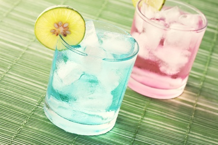 Cocktail in green background Stock Photo - 10427105