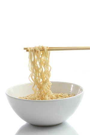 noodle isolated in white background photo