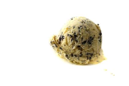 cream colored: ice cream isolated in white background Stock Photo