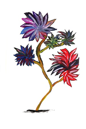 Tree on watercolour Stock Photo - 10568500