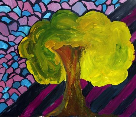 Tree on watercolour Stock Photo - 10568636